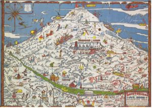 Skisterical Map of Mt. Hood Placemat