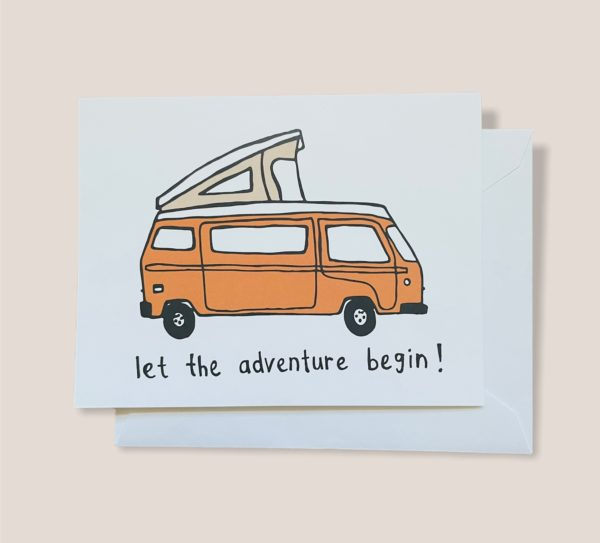 Greeting Card  - Let the adventure begin