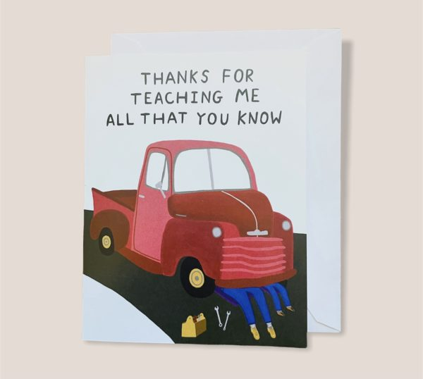 Greeting Card  - Thanks for teaching me