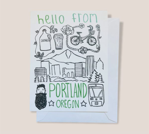 Greeting Card  - Hello from Portland