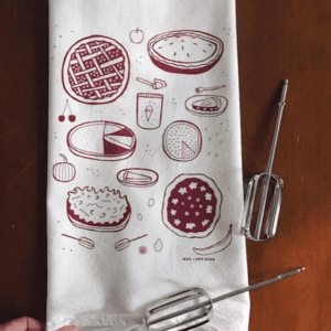 Pie Kitchen Tea Towel