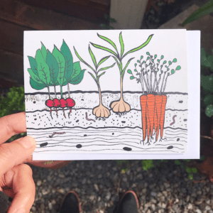 Greeting Card  - Veggie Garden