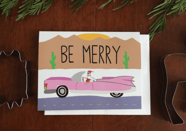 Holiday Greeting Card  - Be Merry