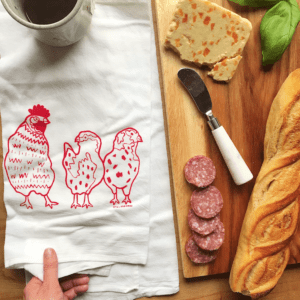 Chicken Kitchen Tea Towel