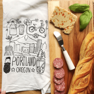 Portland Oregon Kitchen Tea Towel