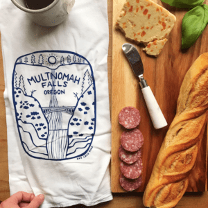 Multnomah Falls Kitchen Tea Towel