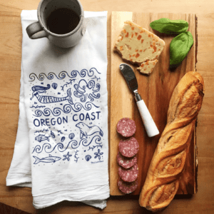 Oregon Coast Kitchen Tea Towel