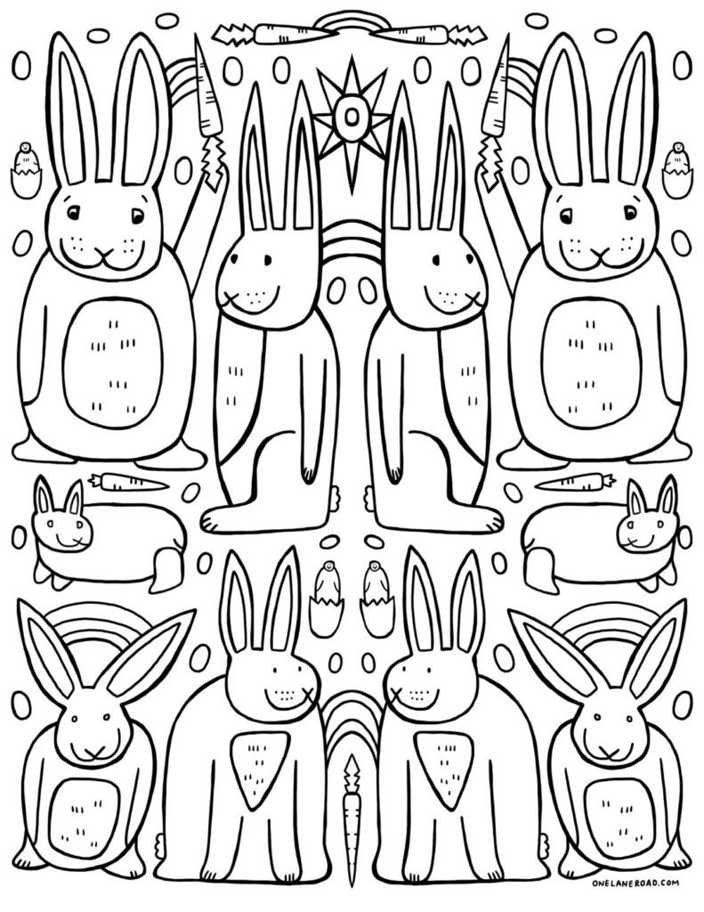 Bunny Coloring Page - FREE