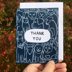 Greeting Card - Thank You - Dogs and Cats