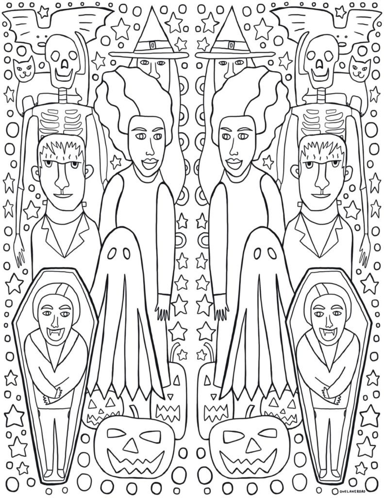 Spooky Coloring Page - FREE