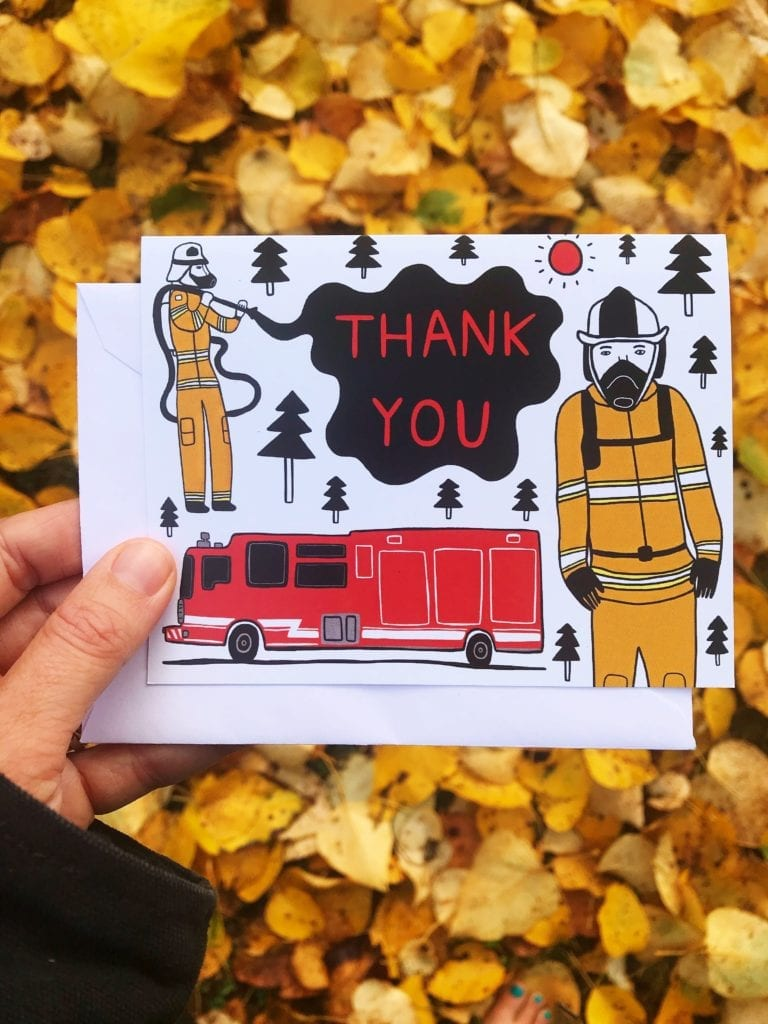Fundraiser Greeting Card - Thank You Firefighters!