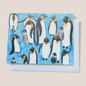 Greeting Card - Penguin Party
