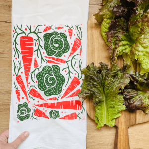 Carrots and Cabbage Kitchen Tea Towel