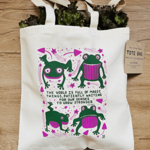 Frogs and Mushrooms - Tote Bag
