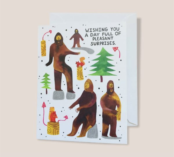 Greeting Card - Wishing You A Day Full Of Pleasant Surprises