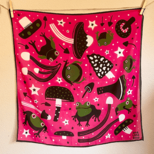 Frogs and Mushrooms - Scarf