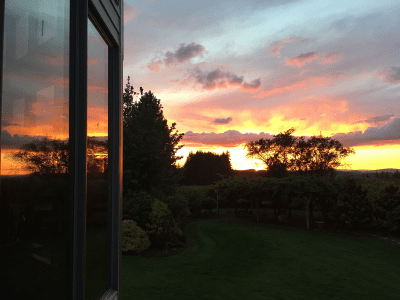 Sunset From Deck