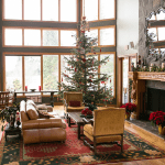 Great Room Durring Christmas with Tree and Decorations