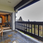 Grand Fir Suite Private Patio with View to Portland